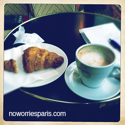 Cafe croissant, Paris cafe, Paris breakfast, Paris guide