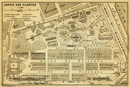 Map Jardin des Plantes
