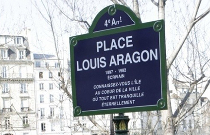 louis aragon place sign