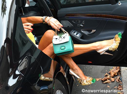 Anna Della Russo heels #PFW