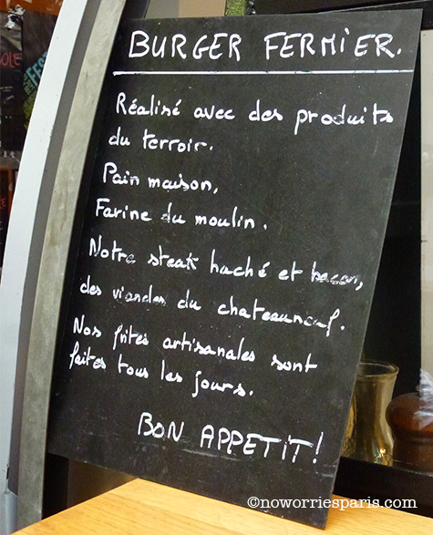 burger menu Paris Enfants Rouges