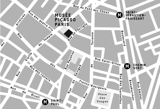 map to picasso museum