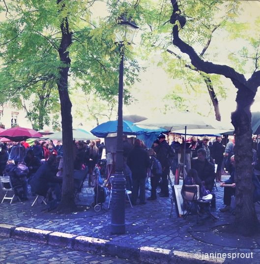 montmarte square Paris