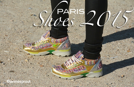 Athletic shoes in Paris